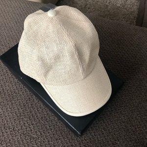 Natural Raffia baseball cap
